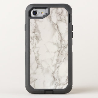 White Marble OtterBox Defender iPhone 7 Case