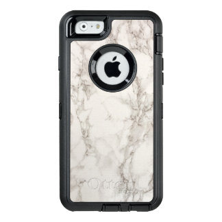 White Marble OtterBox Defender iPhone Case