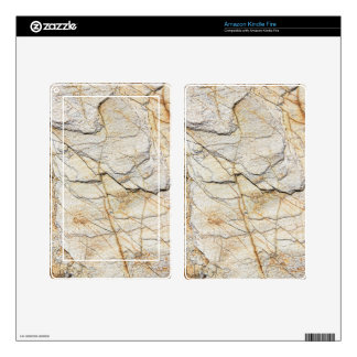 White marble pattern kindle fire skins