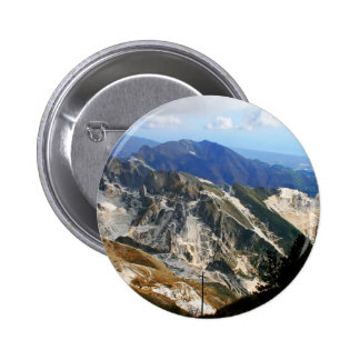 White Marble Quarries, Carrara - Italy 2 Inch Round Button