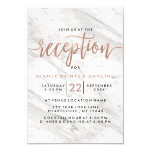 gold reception wedding invitations zazzle