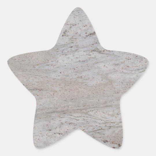 White Marble Star Sticker