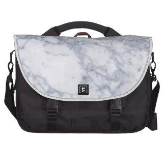 White Marble Stone Grain Texture Commuter Bag