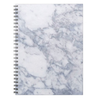 White Marble Stone Grain Texture Spiral Notebook