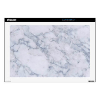 """White Marble Stone Grain/Texture Decals For 17"""" Laptops"""