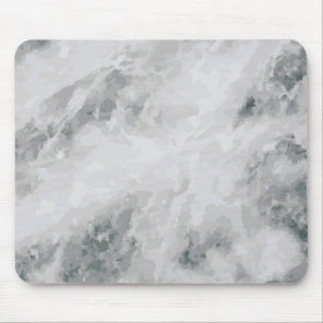 White Marble Stone Pattern Texture Print Mouse Pad