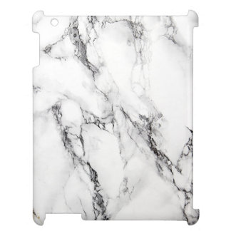 White Marble Stone With Black Textured Case For The iPad 2 3 4