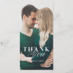 """White Marble Thank You Wedding Card<br><div class=""""desc"""">Our Modern Marble Wedding Invitations in Black are infused with chic,  modern flair and luxurious marble texture. Add your names and wedding details in this design's tasteful mix of fonts. This glamorous wedding suite is sure to be a show-stopper!</div>"""
