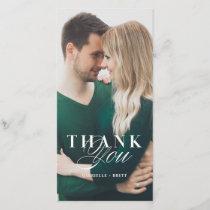 White Marble Thank You Wedding Card