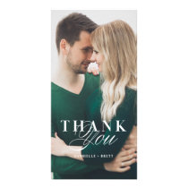 White Marble Thank You Wedding Card