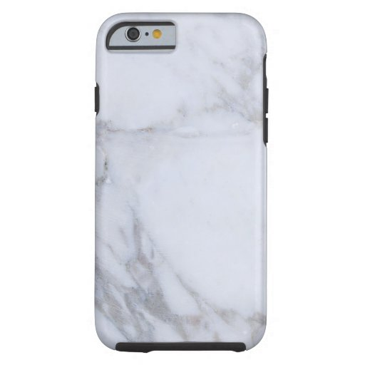White Marble Tough iPhone 6 Case
