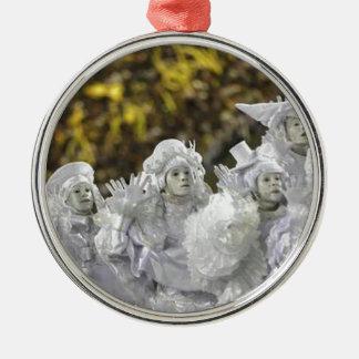 White Mardi Gras Masks Christmas Tree Ornament