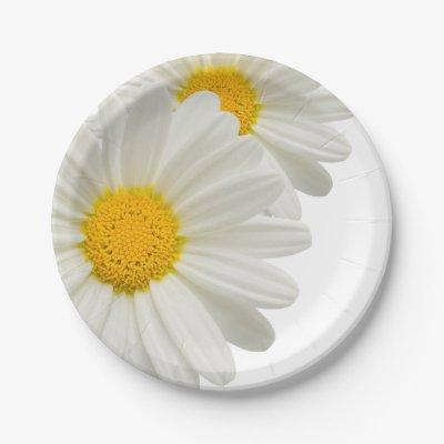 white daisy paper plate | Zazzle.com