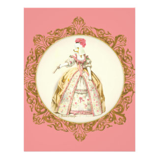 White Marie Antoinette Poodle in Pink Flyer