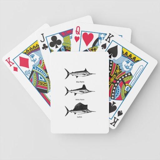 White Marlin - Blue Marlin - Sailfish Logo Bicycle Playing Cards