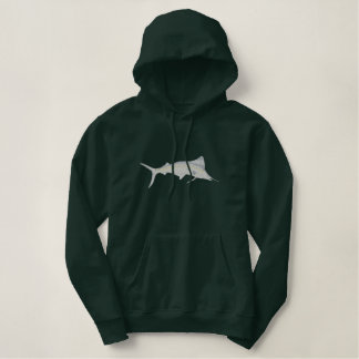 White Marlin Embroidered Hoodie