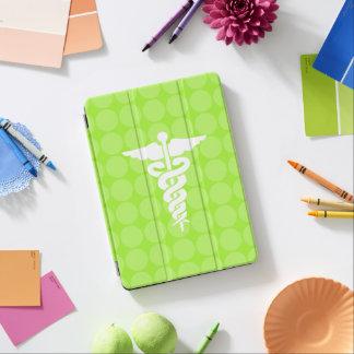 White Medical Symbol on Green Polka Dots iPad Air Cover