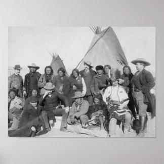 White Men (including Buffalo Bill) and Lakota 3 Poster