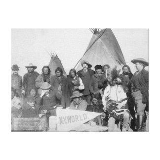 White Men (including Buffalo Bill) and Lakota Canvas Print