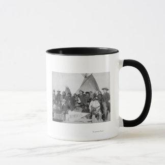 White Men (including Buffalo Bill) and Lakota Mug