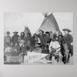 White Men (including Buffalo Bill) and Lakota Poster
