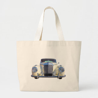 White Mercedes Benz 300 Luxury Car Tote Bags