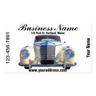 White Mercedes Benz 300 Luxury Car Business Card Template