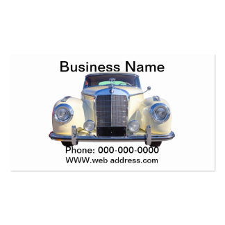 White Mercedes Benz 300 Luxury Car Business Card