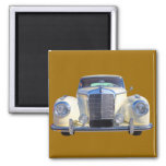 White Mercedes Benz 300 Luxury Car Refrigerator Magnets