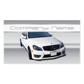 White Mercedes Benz Business Cards