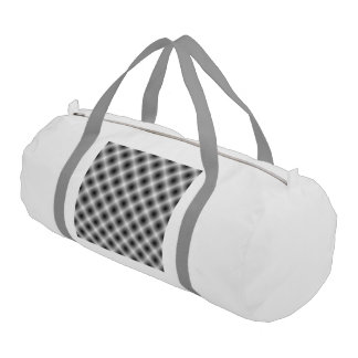 White Mesh Moire Gym Bag