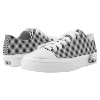 White Mesh Moire Printed Shoes
