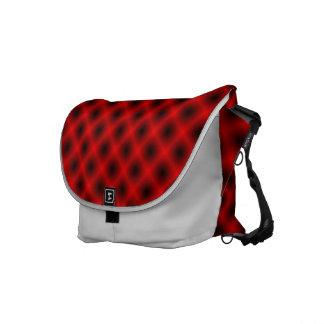 White Mesh Moire (Tintable) Messenger Bag