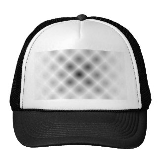 White Mesh Moire Trucker Hat