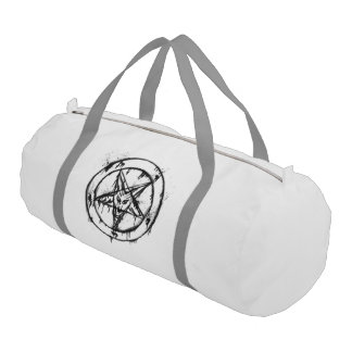 White Messy Baphomet Duffle Bag