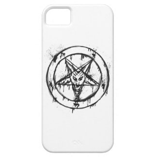 White Messy Baphomet Phone Case iPhone 5 Case