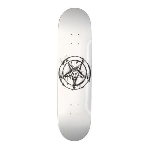 White Messy Baphomet Skateboard