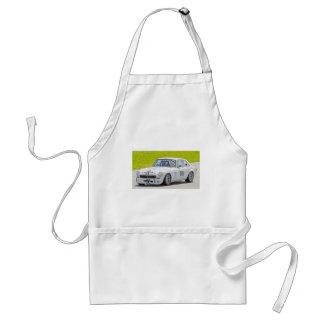 White MG race car Adult Apron