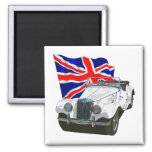 White MG TF 2 Inch Square Magnet