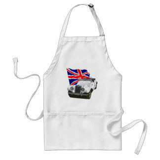White MG TF Adult Apron