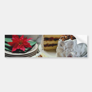 White Mincemeat, walnut white layer cake flowers Bumper Sticker