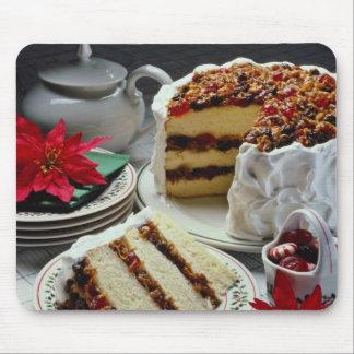 White Mincemeat, walnut white layer cake flowers Mousepad
