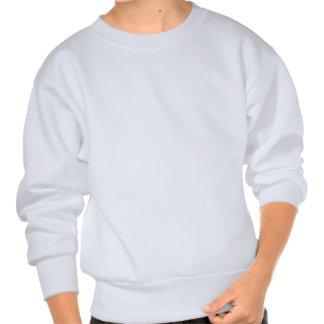 White miniature Horse  light blue Pullover Sweatshirt