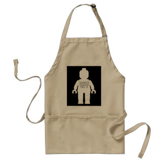 White Minifig with 'BRICK CITY' Logo Adult Apron