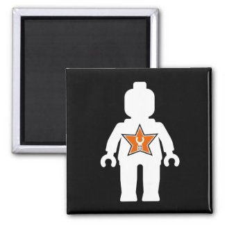 White Minifig with Customize My Minifig Logo Magnet