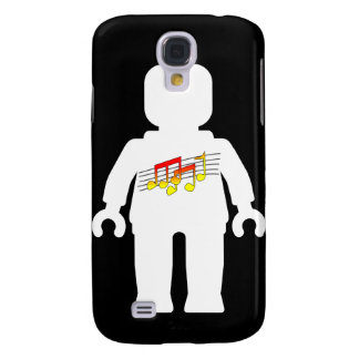 White Minifig with Music Logo Galaxy S4 Cover