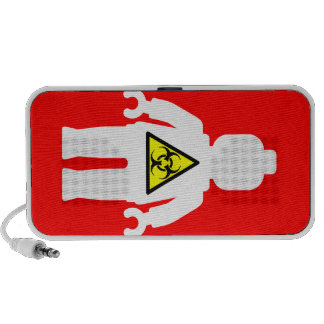 White Minifig with Radioactive Logo Portable Speaker