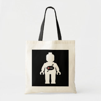 White Minifig with Space Brigade Logo Tote Bag