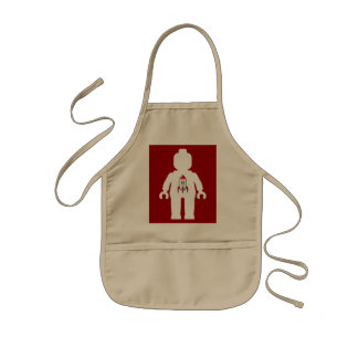 White Minifig with Space Rocket Logo Kids' Apron