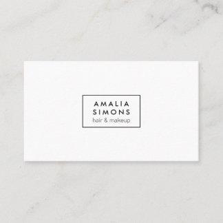 White Minimalist Business Cards